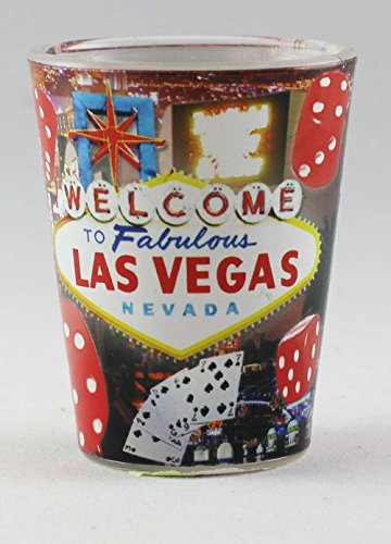 Las Vegas Nevada Red Dice Shot Glass - Glasses Vegas Las