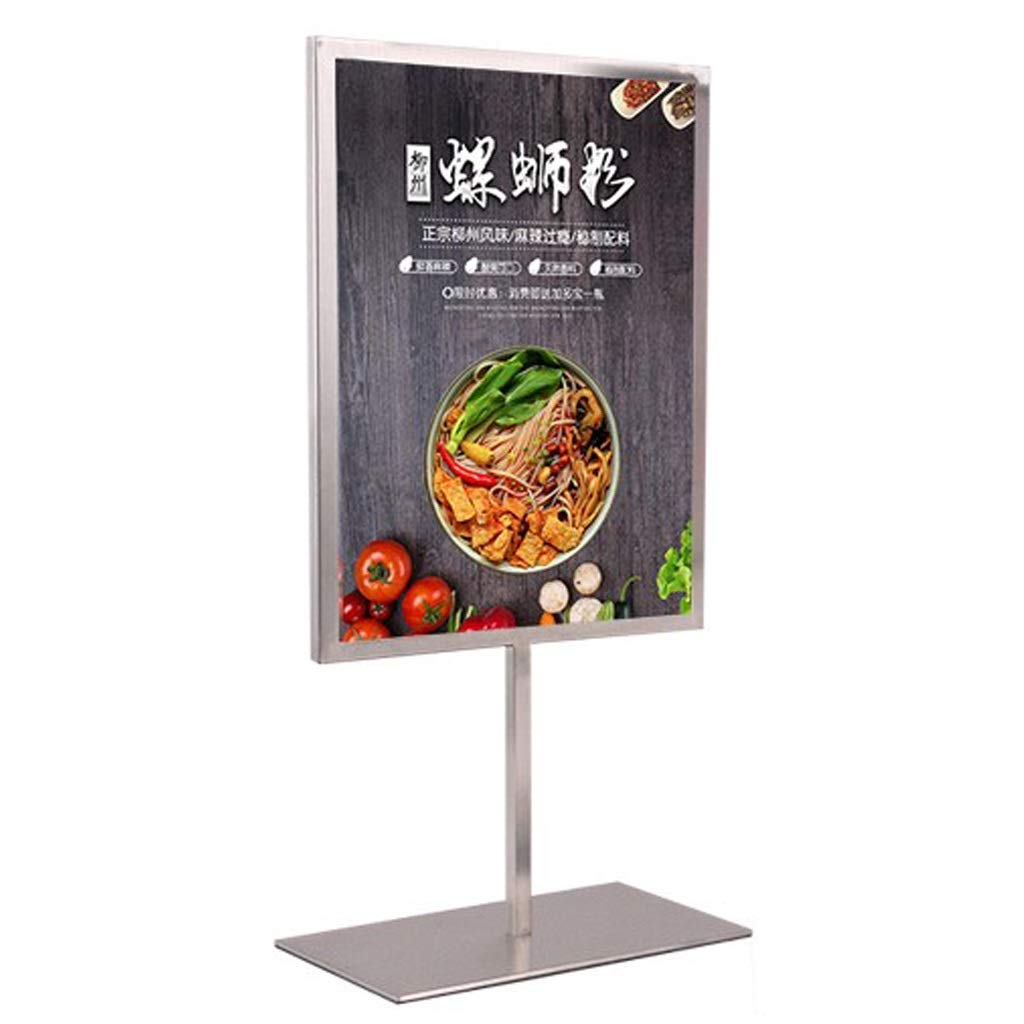 LPYMX Menu Holder Sign Holder, A4 Display Stand, Double-Sided menu Stand Poster Holder A4 Display Stand by LPYMX