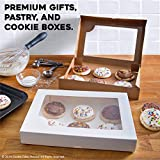Cookie Cake Shop White Gift Boxes with Clear Window (12-Pack) Paper DIY Craft Storage | For Cookies, Goodies, Sweet Treats, T-Shirts, Gifts, Baked Goods | Hobbies, Crafter, Other Small Favors