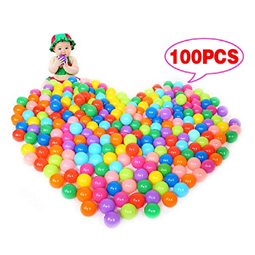 FidgetGear 100Pcs Multi-Color Cute Kids Soft Play Balls Toy for Ball Pit Swim Pit Pool <P from FidgetGear