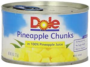 Dole Pineapple Chunks in Juice, 8 oz