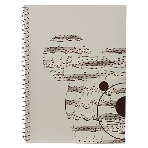 PUNK Music Manuscript Paper With 40 Pages Music Blank Sheet Music Notebook(Music Bear White)