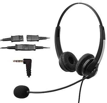 Voistek - Auriculares in-ear con cancelación de ruido y micrófono y desconexión rápida para