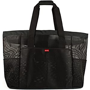 Amazon.com : Oahu XL Mesh Beach Bag Tote, Extra Heavy Duty with ...