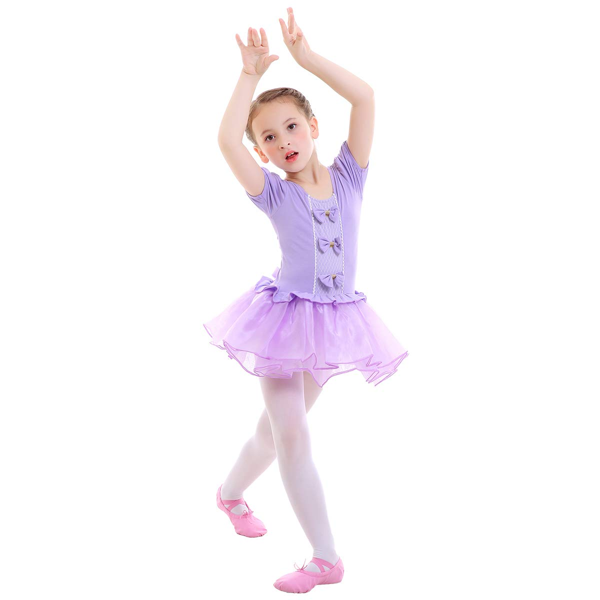 6d276ec6c Girls Ballet Dance Tutu Dress Leotard Ruffled Tulle Skirt Ballerina ...