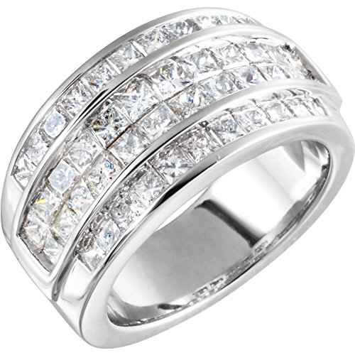 FB Jewels 14k White Gold 2 CTW Diamond Invisible Set Ring Size 5