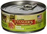 Evangers Natural Classic Duck Pet Canned Food Dinner Meal for Dogs Cats 5.5z