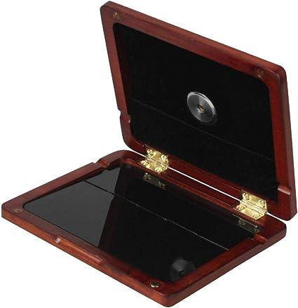 Estuche de Almacenamiento de Caña para Clarinete con Sistema de Monitoreo de Humedad Acerca de 120 mm x 100 mm x 15 mm - Ámbar: Amazon.es: Instrumentos musicales