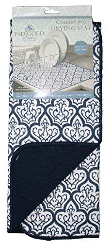 Kay Dee Designs Countertop Drying Mat Indigold Blue Microfib
