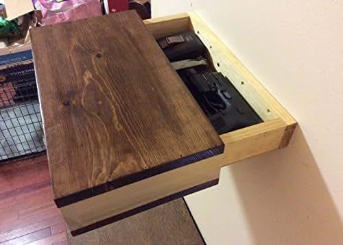 Amazon Com Rustic Wood Floating Shelf With Hidden
