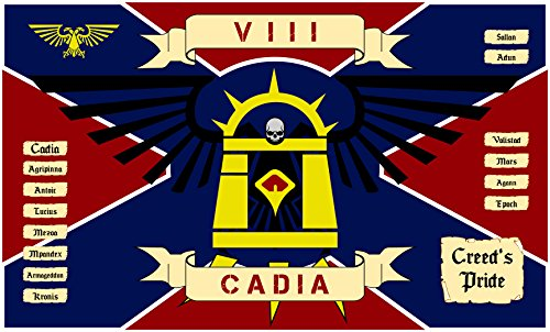 (Warhammer Flag | Flag of Cadia Landscape | 3x5 ft / 90x150cm | Long Lasting Flag)