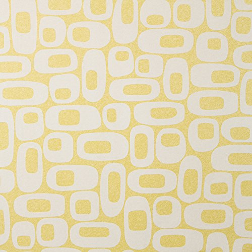 Os Lemon Lime Mid Century Wallpaper for Walls - Sample Swatch - By Romosa Wallcoverings LL7335 (Paper Samples Swatch Book)