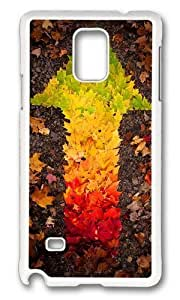 MOKSHOP Adorable autumn leaves arrow Hard Case Protective Shell Cell Phone Cover For Samsung Galaxy Note 4 - PC White