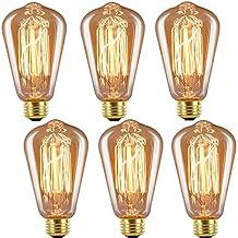 INNOCCY Edison Bulb Medium (E26) Standard Base Dimmable ST64 60W Vintage Light Bulb 2300K Warm White ,Pack of 6