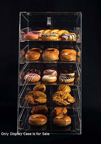 "5 Tier Acrylic Bakery Display Case with Removable Trays, Size: 12""W x 14""D x 23""H by Display Case"