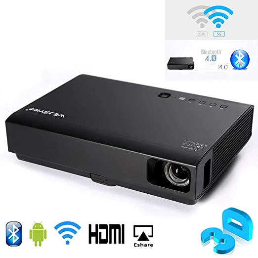 Proyector casero, 3D Laser & LED Mini proyector DL-310 Android ...