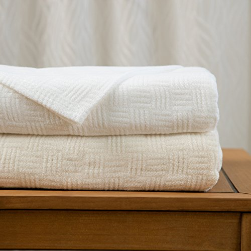 Maison Luxe Ultimate Luxury Eco-Chic Rayon from Bamboo Cotton Basket Weave Blanket by Maison Luxe (Image #1)