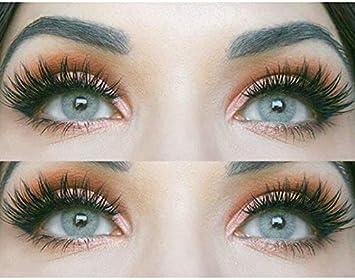 GLAMLENS lentillas de color -gris Jasmine Grey + contenedor. 1 par (2 piezas) - 90 Días - Sin Graduación - 0.00 dioptrías - blandos - Lentes de contacto grises de hidrogel de silicona