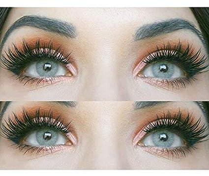 """Sehr stark deckende und natürliche graue Kontaktlinsen SILIKON COMFORT NEUHEIT farbig """"Jasmine Gray"""" + Behälter von GLAMLENS"""