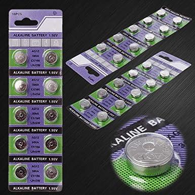 S/&MO 10 PCS AG12 LR43 386A SR43 386 SR1142 BSR43H Alkaline Batteries Button Cell Coin