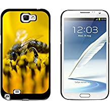 Graphics and More Bee on Yellow Flower - Pollen - Snap On Hard Protective Case for Samsung Galaxy Note II 2 - Black