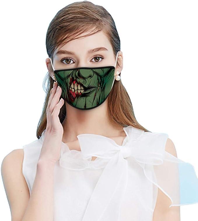 QIMANZI Mundschutz Multifunktionstuch 3D Lustig Bandana Waschbar Wiederverwendbar Mundbedeckung Atmungsaktiv Mund-Nasenschutz Mund Nasen Motiv Halstuch Schals Herren Damen