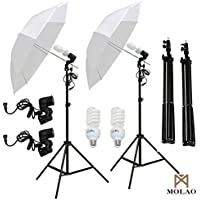 SUNCOO 2x 33 Photo Studio White Umbrella Reflector Lamp Photography Stand Lighting Kit