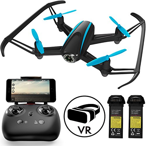 Drones with Camera for Kids and Adults - U34W Dragonfly WiFi FPV VR Quadcopter, HD 720P RC Drone with Camera Live Video for Beginners w/ Extra Battery