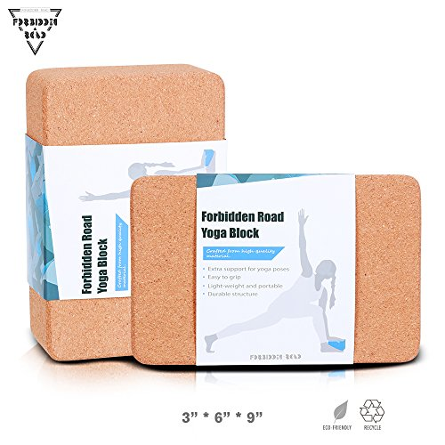 Forbidden Road Cork / EVA Yoga Block Yoga Exercise Blocks Bricks Set Natural Eco Friendly Sturdy Support Muscle Stretch Deepen Poses for Fitness Gym