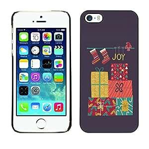 Paccase / SLIM PC / Aliminium Casa Carcasa Funda Case Cover para - Charismas Decorations Grey Winter - Apple Iphone 5 / 5S