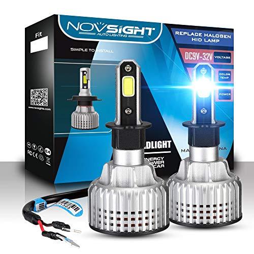 X&Y 9005 car Bulb auto Parts Headlights, Direct Halogen Replacement, COB chip, 60W 10000LM 6000K White, (2 PCS),H1