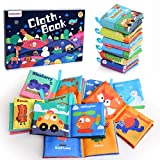 Baby's First Soft Books with Rustling Sound,Non-Toxic Cloth Books Toy Set for Newborns, Infants, Toddlers & Kids.Perfect for Baby Toy Gift Sets Baby Shower -Pack of 6