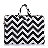 Funny live Wavy Lines Canvas Portable Laptop Sleeve Carrying Case Bag for 11.6''-12.3'' Acer,ASUS,HP,Samsung,Chromebook,Surface Pro 5/4/3,New MacBook Pro (black, 12 Inch)