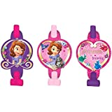 """Disney Sofia The First Blowouts Princess Birthday Party Toy Noisemaker Favour and Prize Giveaway (8 Pack), Violet/Pink, 5""""."""