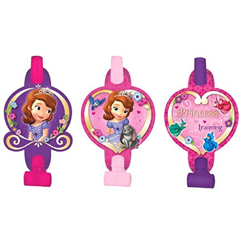 Disney Sofia The First Blowouts Princess Birthday Party Toy Noisemaker Favour and Prize Giveaway (8 Pack), Violet/Pink, 5