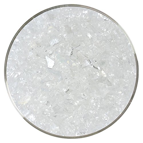4oz 96COE Metallic On Clear Iridescent Fusible Glass Coarse Frit Made from System 96 Glass