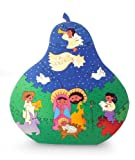 NOVICA Religious Sculpture Wood Display Jigsaw Puzzle, Multicolor 'Christmas in Olinala'
