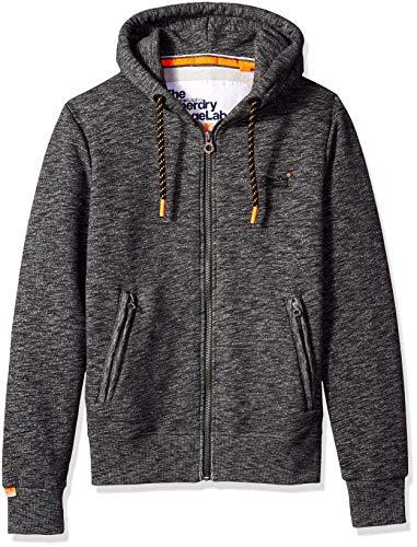8d57cb80aeb5a4 Superdry Men's Orange Label Zip Hoodie, Cinder Charcoal grit XL