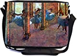 Rikki Knight Edgar Degas Art Dancers in the Foyer Design Multifunctional Messenger Bag - School Bag - Laptop Bag - with padded insert for School or Work - Includes UKBK Premium coin Purse
