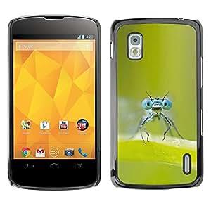 LG Google NEXUS 4 / Mako / E960 , Radio-Star - Cáscara Funda Case Caso De Plástico (Bugs Eyes)
