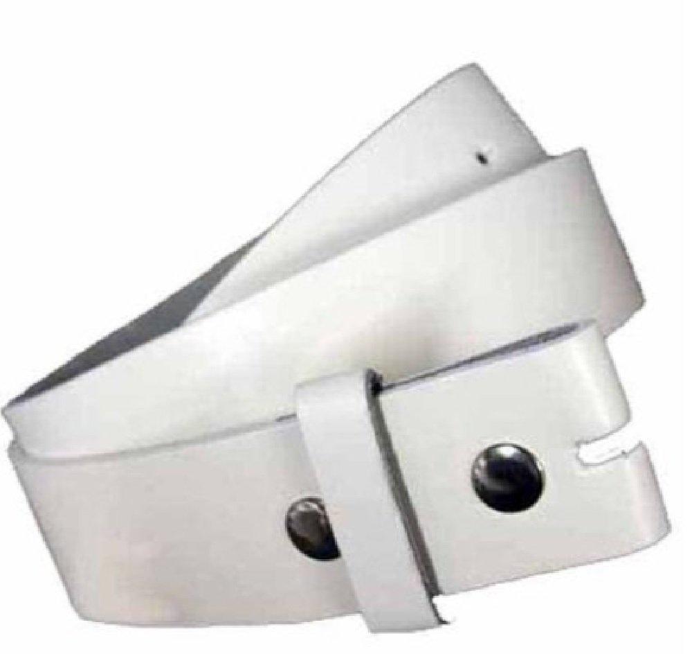 Luxury Divas White 1.5 Wide Snap Removable Buckle Belt Size Large NYFASHION101
