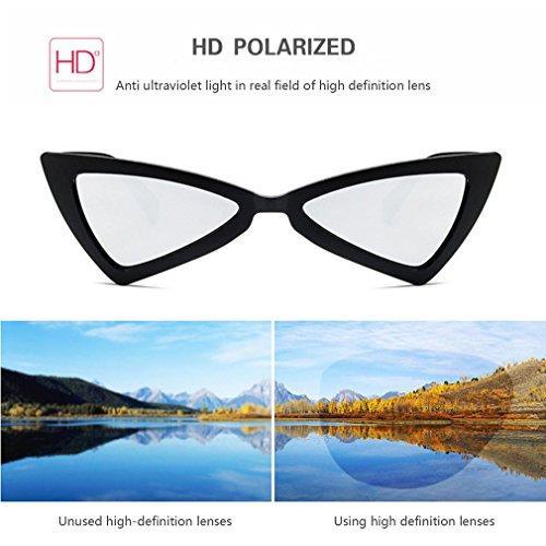 ojo Gafas gato sol diseño gafas sol de UV400 triángulo de viaje de de para mujer de YrY8I