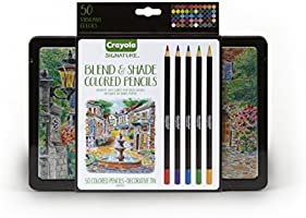 Crayola Signature Blend & Shade Colored Pencils, Professional Coloring Kit, Adult Coloring, Gift