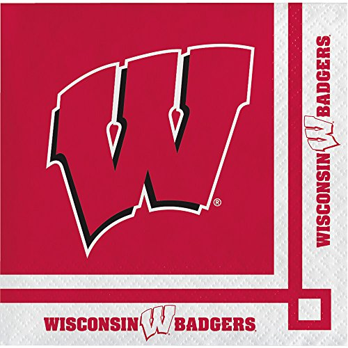 Wisconsin Badgers Beverage Napkins, 20-Count]()