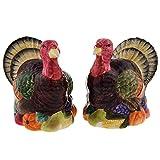Turkeys Salt And Pepper Shaker Set Thanksgiving Fall Harvest Tableware Decor