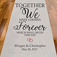 Together We Have Chosen Forever Personalized Aisle Runner
