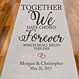 personalized aisle runner - Together We Have Chosen Forever Personalized Aisle Runner