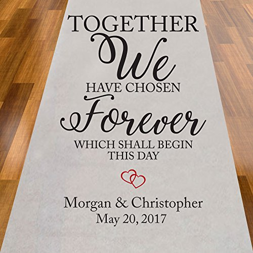Together We Have Chosen Forever Personalized Aisle Runner -