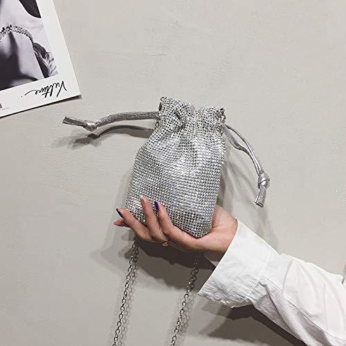 épaule Portable bandoulière téléphone Miel WSLMHH fée Paquet Petit été Diamant Chaîne personnalité argent de en Sac Sac PxP0zgw
