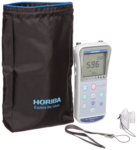 HORIBA 352734-1 Model D-54 Handheld Portable pH/ORP/Conductivity Meter with PC/Printer Output Capability